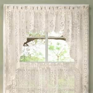 bed bath n more luxurious world style lace kitchen curtains tiers and valances in