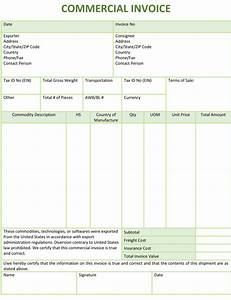 commercial invoice template cyberuse With commercial invoice sample pdf