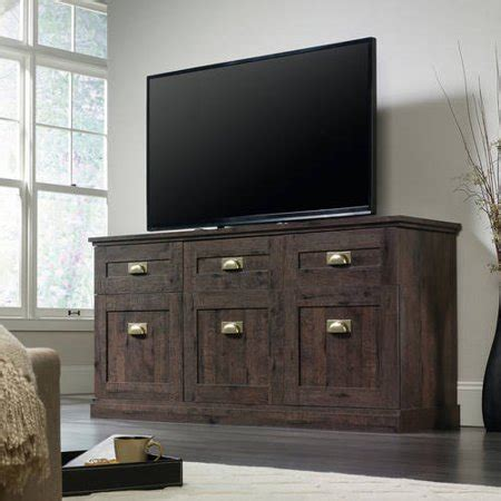 credenza entertainment center sauder new grange coffee oak entertainment credenza for tv