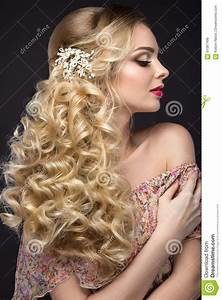 Beautiful Blond Girl In Image Of The Bride With Wedding ...