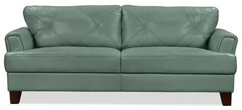The Brick Leather Sofa by Vita 100 Genuine Leather Sofa Sea Foam The Brick