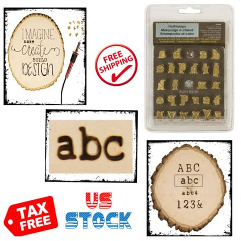 case letters branding wood burning pyrography stamps