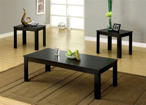 Bay Square Contemporary Black Accent Tables Cm4329