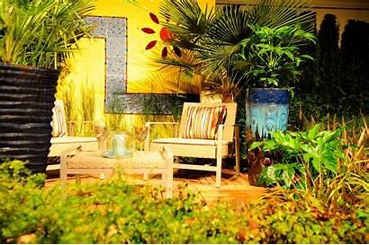 Yellow Garden Plants Walls Backyard Furniture Wall