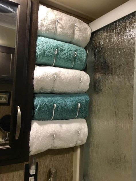 rv renovation camper towel rack rv space  limited