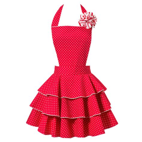 what is an apron petite dot party red apron vintage hostess aprons