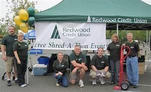 redwood credit union free shred a thon events sonoma With free document shredding sonoma county