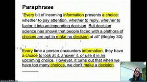 mla annotation list of synonyms and antonyms of the word paraphrase