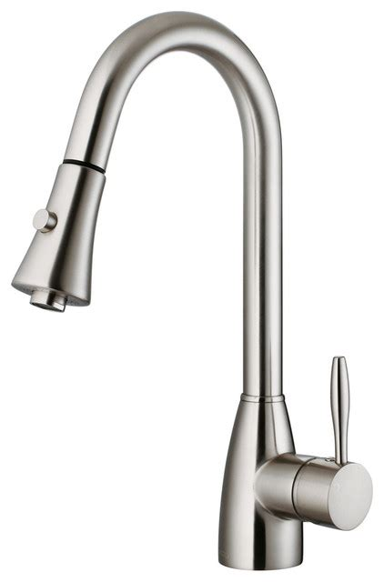 houzz kitchen faucets vg02013st stainless steel pull out spray kitchen faucet