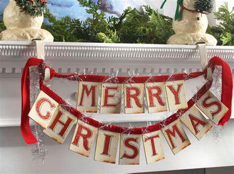 merry christmas banner ornament red velvet ties