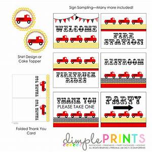 Free Printable Fire Truck Birthday Invitations