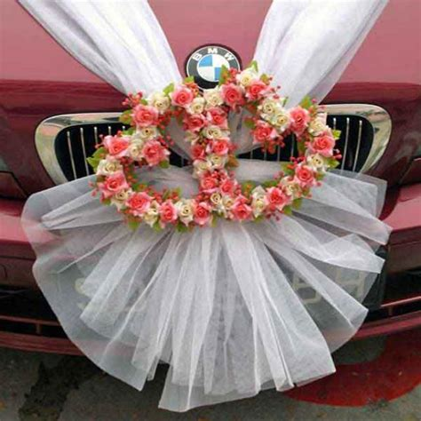 wedding car flowers decoration