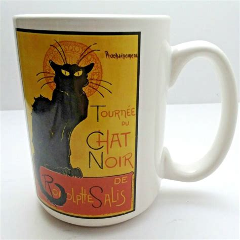 Very yummy coffee and teas. Tournee Du Chat Noir PPOCHAINEMENT From Paris France Coffee Cup Mug Black Cat | eBay