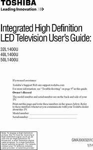 Toshiba 32l1400u User Manual Led Tv Manuals And Guides