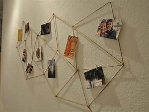 Fotos Aufhängen Schnur : geometrische fotowand aus kordel gestalten ~ Sanjose-hotels-ca.com Haus und Dekorationen