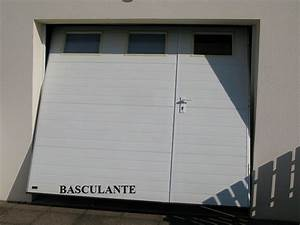 portes de garage challans alu With porte de garage enroulable et double porte coulissante interieur