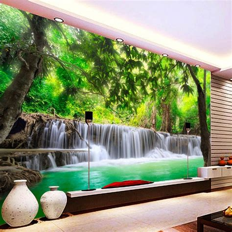 customized size  nature landscape waterfall mural