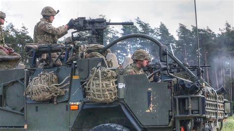 British Army Soldiers Fire Machine Gun & Grenades From
