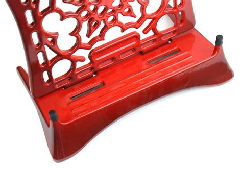 le creuset combination cast iron cookbook stand trivet cherry red cutlery