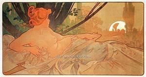 Rare Alfons Alphonse Mucha Art Nouveau Prints Vintage ...