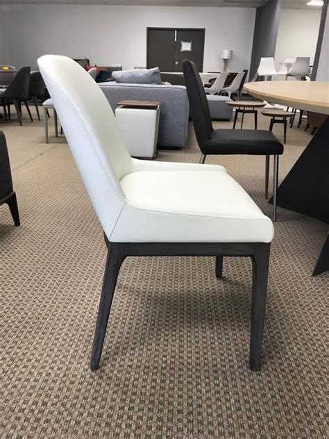 adriana white charcoal wood modern dining room chairs