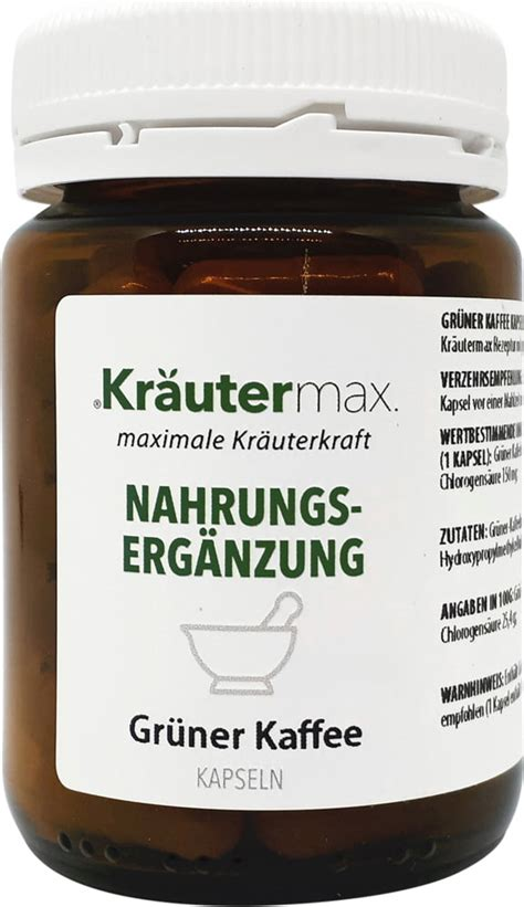 You can now find their loyalty card in the app to get a free coffee! Green Coffee, 60 capsules - Kräuter Max - VitalAbo Online Shop Europe