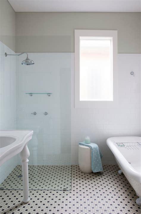 open shower transitional bathroom ici dulux winnow