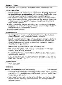 It Security Specialist Resume by Security Specialist Resume Sle Resumes Design