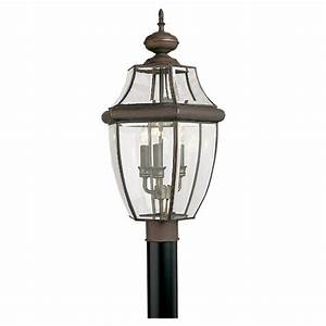 shop sea gull lighting 3 light lancaster outdoor post With outdoor pole lights at lowes