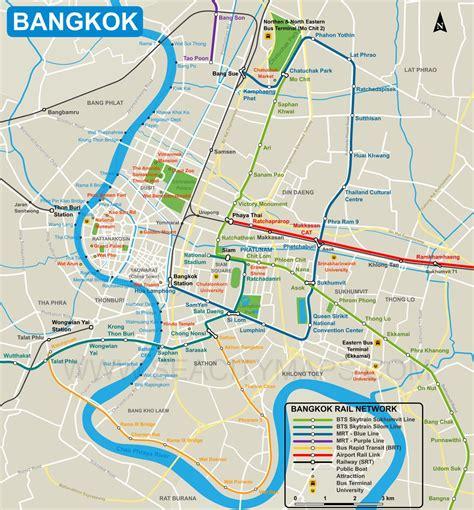 map  bangkok city centre thailand pinterest