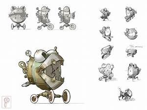 Robot Concept Steampunk by Papierpilot on DeviantArt