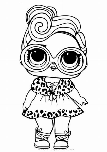 Lol Coloring Printable Pages Doll Dolls Dollface