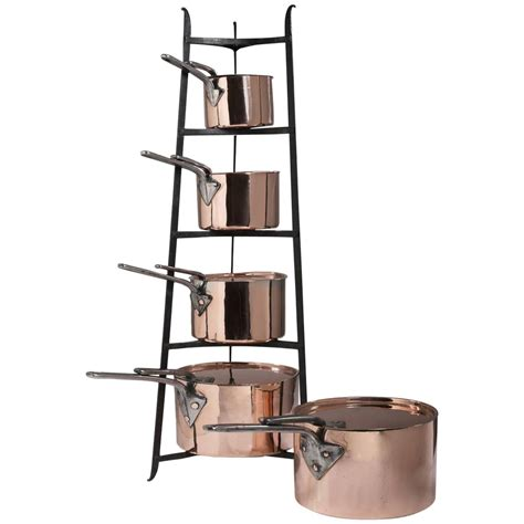 original set   english copper cooking pots cookware kitchen  sale  stdibs