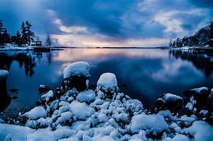 Snow, Lake, House, Sweden, Relax wallpapers and images ...