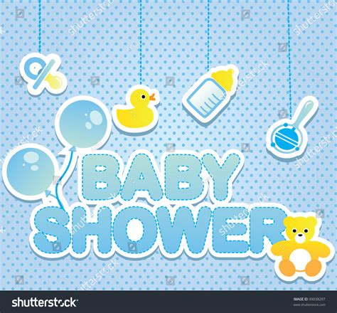 baby shower card boy stock vector  shutterstock