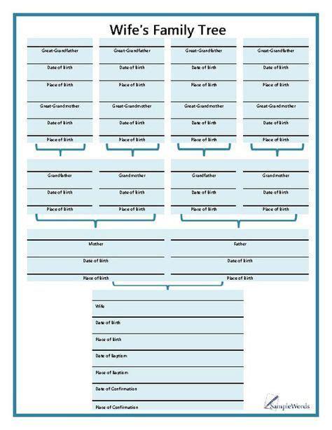 family bible style family tree chart family tree
