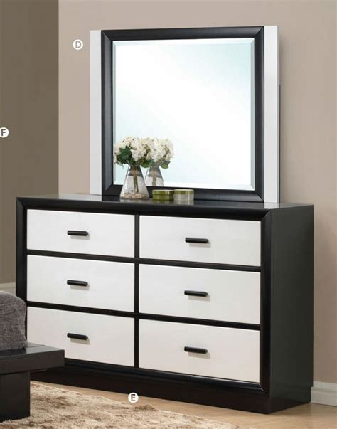 Black Set Of Drawers by Debora Black White Contemporary 6 Drawer Dresser With