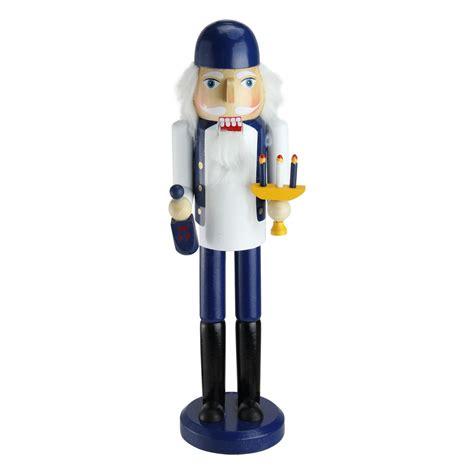 14 quot decorative blue and white wooden hanukkah nutcracker