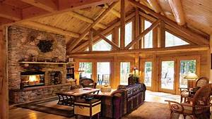 Log Cabin Living Rooms