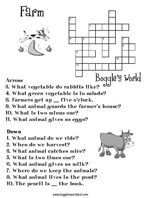 crosswords  esl