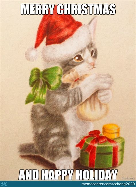 Merry Christmas Cat Meme - merry christmas cat by cchong2020 meme center