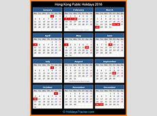 Hong Kong Public Holidays 2016 – Holidays Tracker