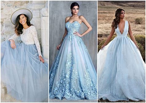 colored wedding dresses   white true blue weddings