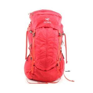 arcteryx bag altra  backpack rucksack nylon red mens   ebay