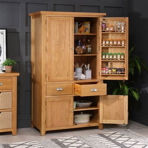 Cupboard Pantry by Cheshire Oak Large Kitchen Larder Pantry Cupboard The