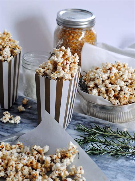 salted caramel rosemary popcorn  oscars party