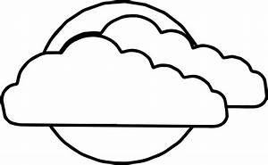 coloring pages clouds - two clouds on sun coloring page