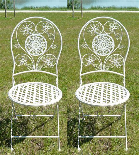 chaises salon de jardin paire de chaises en fer forgé pour salon de jardin