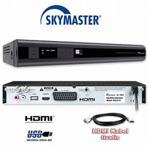 Astra Satellit Ausrichten Winkel : sat receiver skymaster dx digital satellite receiver scart digitaler r cepteur ebay ~ Eleganceandgraceweddings.com Haus und Dekorationen