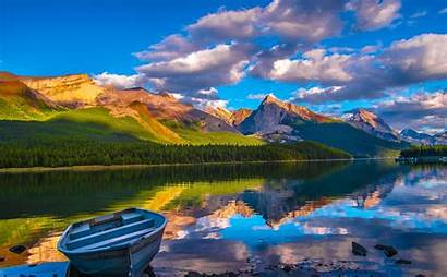 Landscape Summer Nature Lake Morning Mountains Clouds